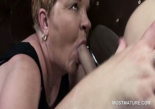 mature hookers licking chap a-hole and engulfing