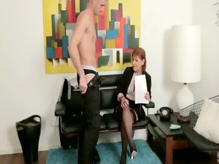 femdom mature makes fellow to receive naked
