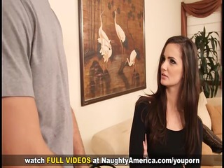 tiny tit dark brown lily carter gets cunt licked